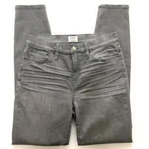 J.CREW Lookout High Rise Skinny Gray Stretch Jean
